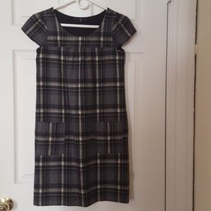 GAP fall/winter wool plaid dress